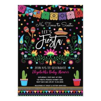 Mexican Fiesta Cinco De Mayo Baby Shower Invitation