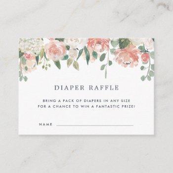 Midsummer Baby Shower Diaper Raffle Ticket