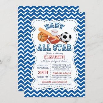 Modern All Star Sports Boys Baby Shower
