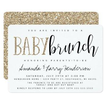 Modern Baby Brunch Baby Shower Invitation