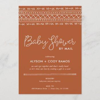 Modern Boho Baby Shower By Mail Invitation