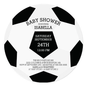 Modern It's A Boy Soccer Baby Shower Invitations
