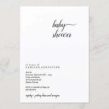 Modern & Minimalist Baby Shower Invitation