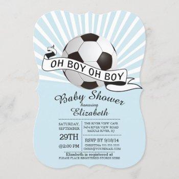 Modern Oh Boy Soccer Boys Baby Shower