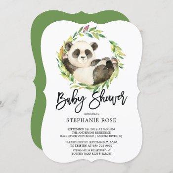 Modern Panda Bear Baby Shower Invitation