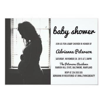 Modern Simple Baby Shower Photo Invitation