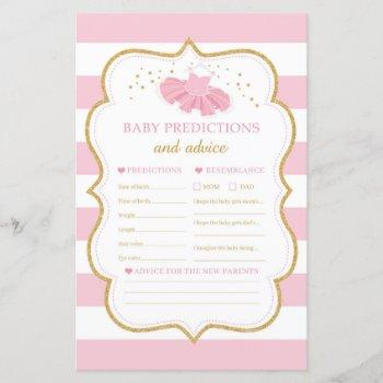Modern Tutu Dress Baby Predictions And Advice Game