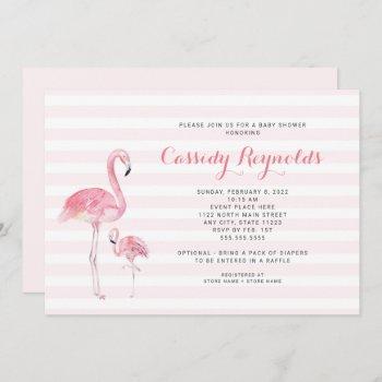Mom + Baby Flamingo Baby Shower Invitation