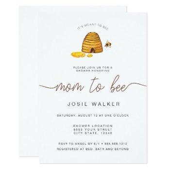 Mom To Bee, Baby Shower Invitation