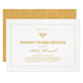 Mommy To Bee Brunch Invitation