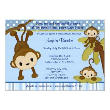 Monkey Baby Shower Invitation 3 Little Monkeys