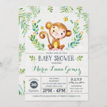 Monkey Baby Shower Jungle Baby Boy