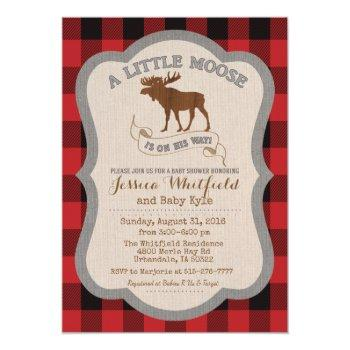 Moose Baby Shower Invitation