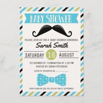 Mustache Bow Little Man Baby Shower