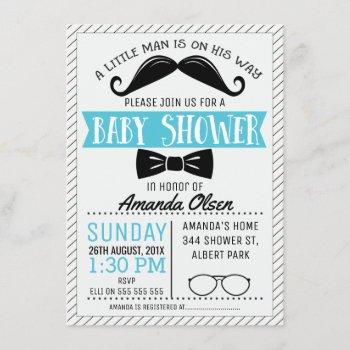 Mustache Little Gentleman Baby Shower