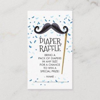 Mustachel Baby Shower Diaper Raffle Ticket Enclosure Card