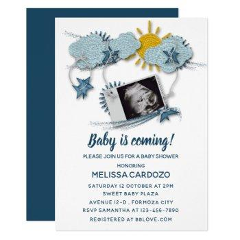 My Baby Ultrasound - Adorable Baby Shower Invitation