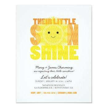 My Little Sunshine Baby Shower Invitation