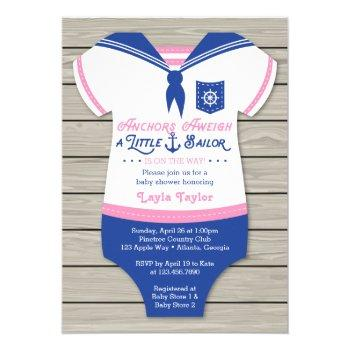 Nautical Baby Shower Invitation, Gender Neutral Invitation
