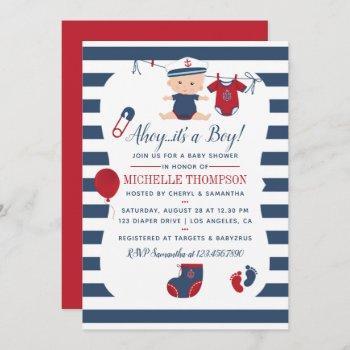 Nautical Boy Baby Shower Invitation