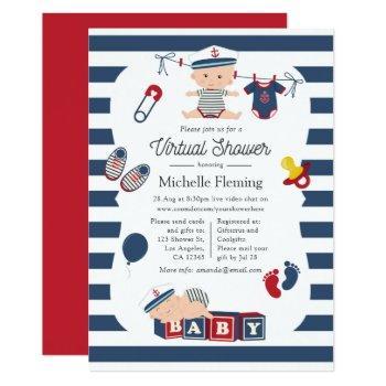 Nautical Boy Virtual Baby Shower Invitation