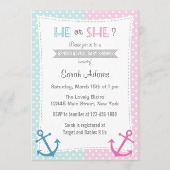 Nautical Gender Reveal Party  Blue Pink