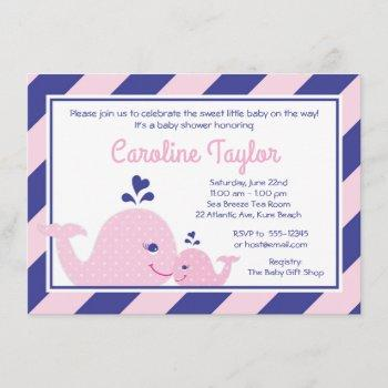 Nautical Whale Baby Shower  Pink & Navy