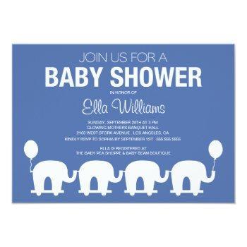 Navy Blue Retro Circus | Baby Shower Invitation