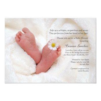 Newborn Feet Baby Shower Invitation