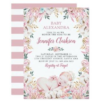 Newborn Floral Baby Shower Invitation