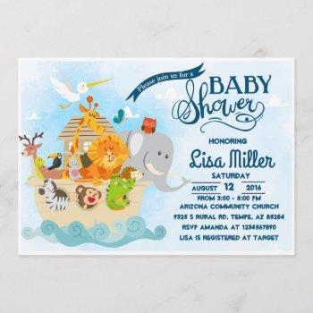 Noah's Ark - Baby Shower Invitation