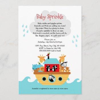 Noah's Ark Baby Sprinkle Invite, Baby Shower Invitation