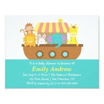 Noah's Ark, Cute Animals, Baby Shower Invitation
