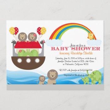 Noah's Ark Invitation - Baby Shower