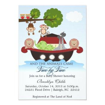 Noahs Ark Sets Sail Baby Shower Invitation