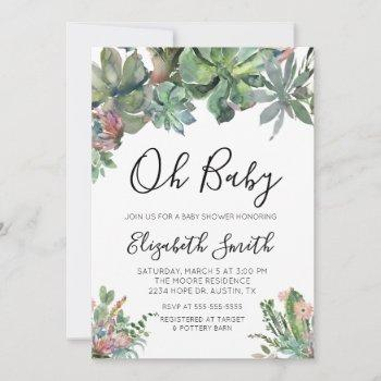 Oh Baby Succulent Baby Shower