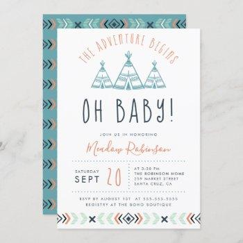 Oh Baby Tribal Teepee Adventure Begins Baby Shower