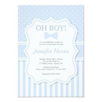 Oh Boy Bowtie Baby Shower Invitation