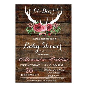 Oh Deer Baby Shower Invitation