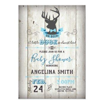 Oh Deer Baby Shower Little Buck Invitation