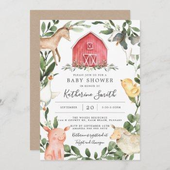 On The Farm Baby Shower Invitation