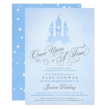 Once Upon A Time Fairytale Castle Boy Baby Shower Invitation