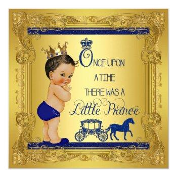 Once Upon A Time Prince Ethnic Baby Boy Shower Invitation