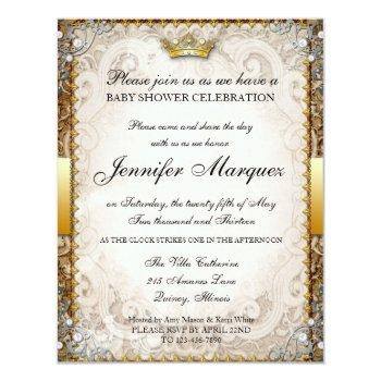 Ornate Fairytale Storybook Baby Shower Invitation