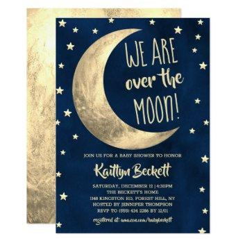 Over The Moon | Baby Shower Invitation