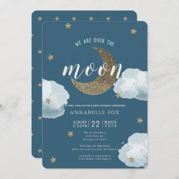 Over The Moon Midnight Blue Baby Shower