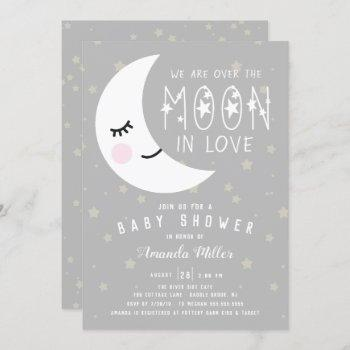 Over The Moon Neutral Baby Shower Invitation