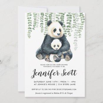 Panda Jungle Baby Shower Invitation