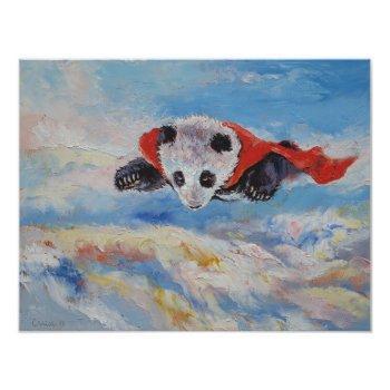 Panda Superhero Invitation