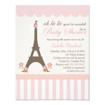 Paris In Spring Baby Shower Invitation